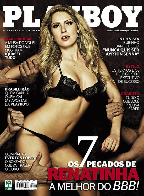 Ex-BBB Renata disputada por 3 homens na Playboy