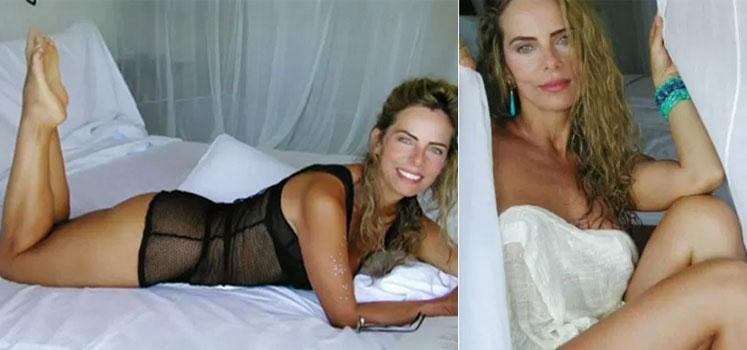 Bruna Lombardi posa sensual para as lentes de seu marido (Foto: Arquivo Pessoal/Reprodução)