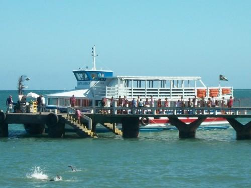 Se a maré baixar, as embarcações não saem e o povo fica sem transporte. O Terminal de Vera Cruz pertence ao governo do Estado e está precisando de dragagem. Uma simples dragagem para aumentar a profundidade do canal.