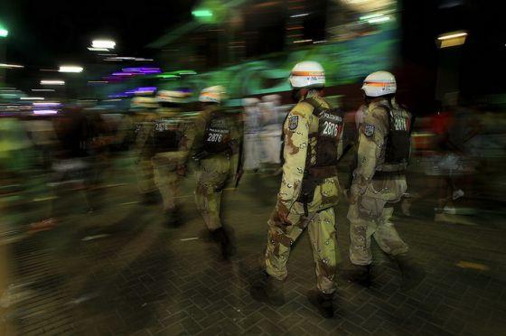 Polícia Militar em atuação no carnaval (Foto: Divulgação)