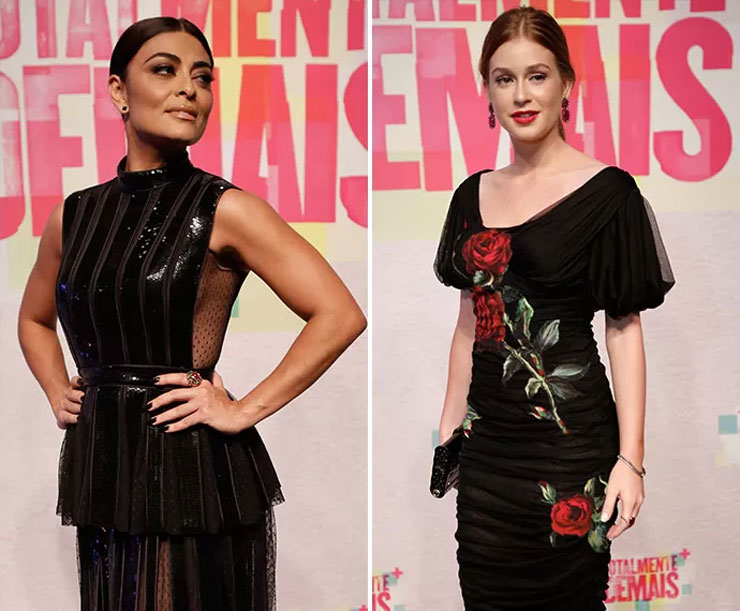 Ju Paes e Marina Ruy Barbosa foram as divas da festa (Foto: Raphael Dias e Fábio Rocha/Gshow/TV Globo/Divulgação)