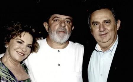 Lula e o pecuarista José Carlos Bumlai (Foto: Reprodução)