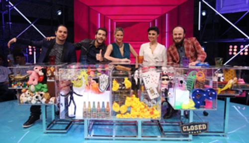 Murilo Gun, Bento Ribeiro, Didi Wagner, Bruna Louise e Paulinho Serra (Foto: Edu Viana/Divulgação Multishow)