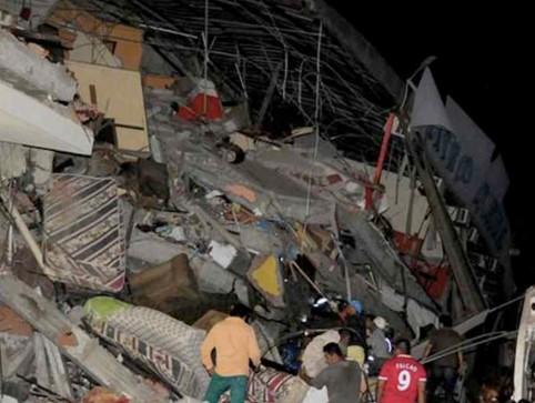 O tremor atingiu com mais gravidade a província de Manabi. (Foto: Reprodução/Facebook)