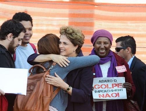 Presidenta afastada Dilma Rousseff visita canteiro de obras do Centro Nacional de Energia de Materiais (Rovena Rosa/Agência Brasil)
