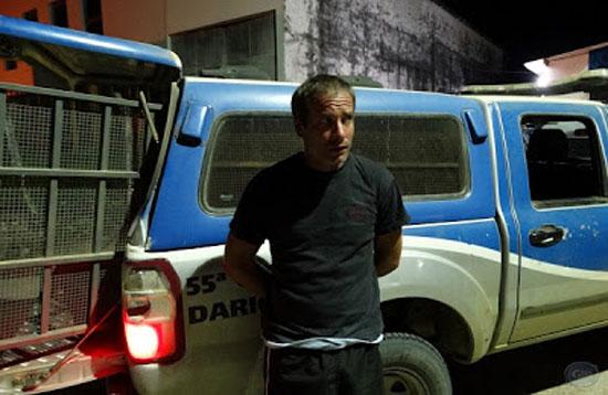 Abílio Luíz de Araújo Neto arrombou o fórum de Ipiaú e foi preso pela polícia (Foto: Giro em Ipiaú/Reprodução)