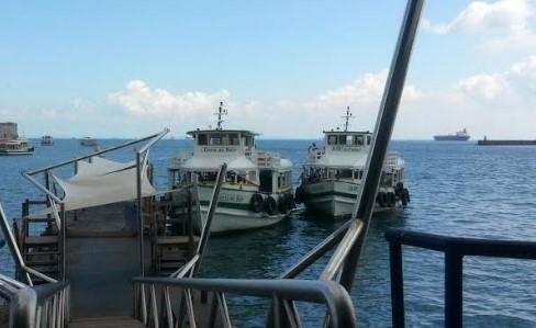 Até às 10h embarcações da travessia Salvador-Mar Grande estão paradas. O terminal do governo em Vera Cruz, na Ilha, precisa de dragagem.