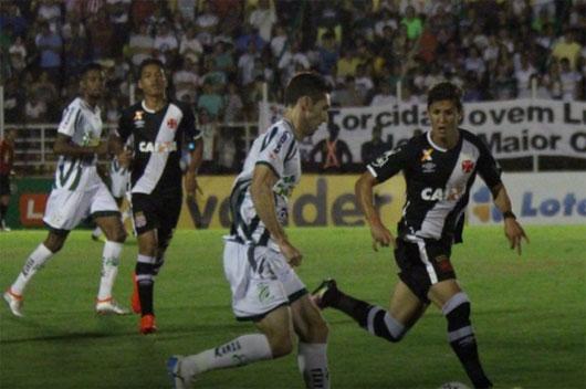 O Vasco poupou  titulares e ficou  no 1 a 1 em Lucas do Rio Verde. Resultado  garante liderança isolada na Série B.
