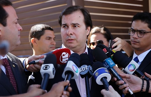 Presidente da Câmara, Rodrigo Maia.