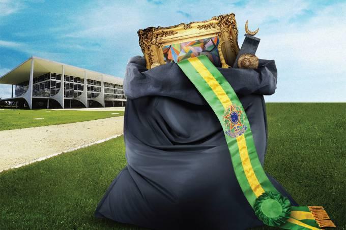 O TCU descobriu que 4?500 itens do patrimônio da Presidência da República estão sumidos., inclusive a faixa presidencial.