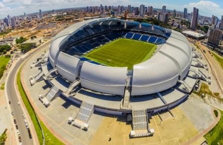 A bola vai rolar para Brasil x Bolívia às 21h45 do dia 6 de outubro, na Arena das Dunas. (Foto: Arena das Dunas/Divulgação)