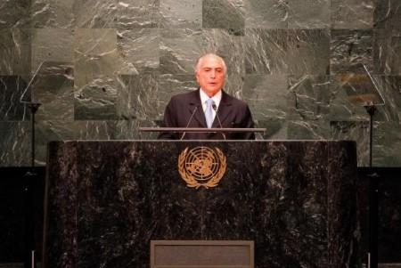 O  presidente  Michel Temer faz discurso de abertura da Assembleia Geral das Nações Unidas    (Foto:  Beto Barata/PR)