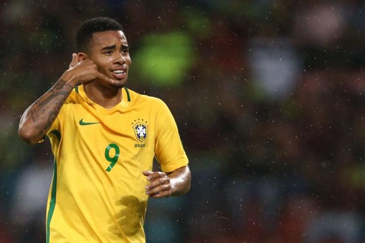Gabriel Jesus abriu o placar pala a seleção brasileira. (Foto: Lucas Figueiredo/CBF)
