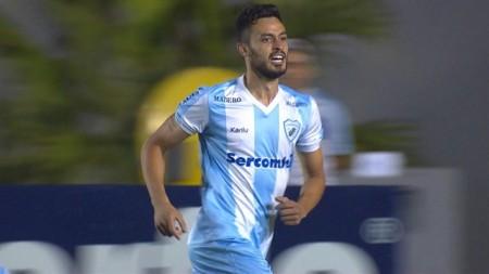 Anderson Lima fez o gol do triunfo do Londrina (Foto: Imagem TV/Reprodução)
