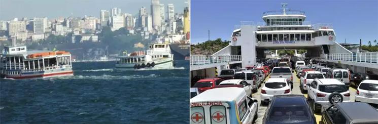 Passageiros encontram facilidade no transporte marítimo para a Ilha de Itaparica. (Foto: Arquivo/JM)