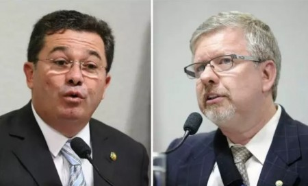 Vital do Rêgo e Marco Maia são suspeitos de terem cobrado propina para blindar fornecedores da Petrobras na CPI mista que investigou a estatal em 2014. (Foto: Reprodução)