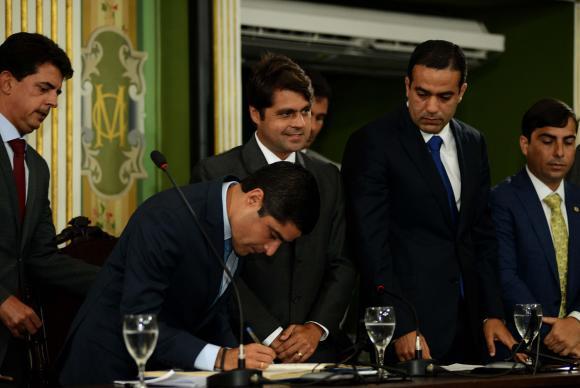 Prefeito reeleito em Salvador, ACM Neto, toma posse para seu segundo mandato (Valter Pontes/ Agecom Salvador)