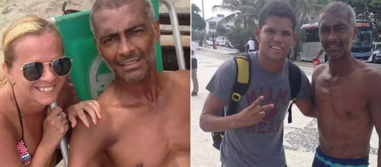 Romário já perdeu 15 kg após cirurgia e  aparece envelhecido em fotos com fãs