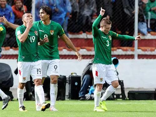 Marcelo Moreno comandou a vitória boliana. (Foto: Reprodução/Twitter)