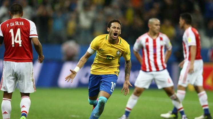 Neymar fez mais uma bela partida pela Seleção Brasileira. Perdeu um pênalti, mas marcou o segundo gol do Brasil. (Foto: CBF/Divulgação)