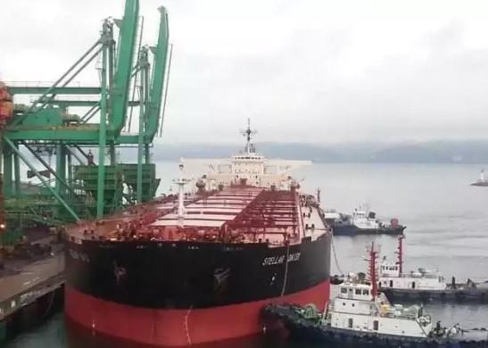 O navio Stellar Daisy é um gigantesco transportador de minério, com capacidade para carregar até 260 mil toneladas. (Foto: Reprodução)