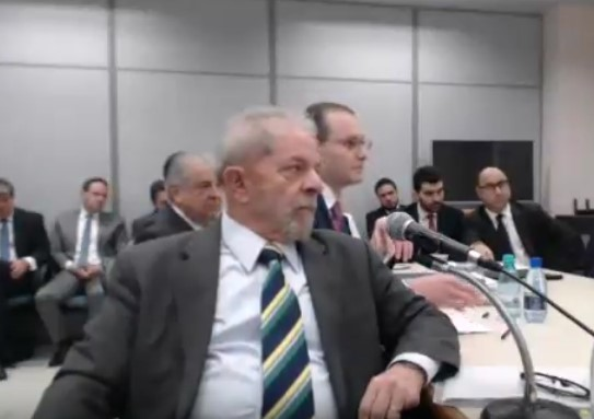 Ex-presidente Lula no depoimento a Sérgio Moro (Foto: Vídeo/Youtube)