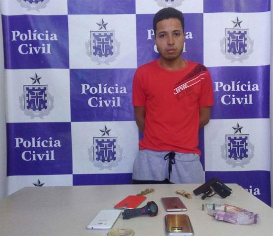 Carlos Antonio  queria cometer três assaltos sequenciais para pagar uma dívida que tinha com traficantes do Alto do Cabrito. (Foto: SSP/Divulgação)