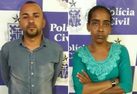 Manuela Silva Tavares, 38 anos, e Silas Pereira dos Santos. (Foto: SSP/Divulgação)