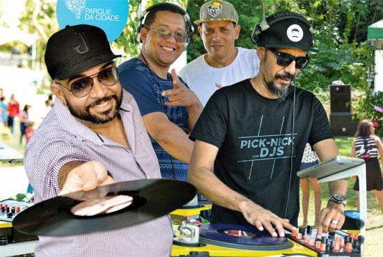 Pick Nick com DJs  a partir das 13h no Parque da Cidade