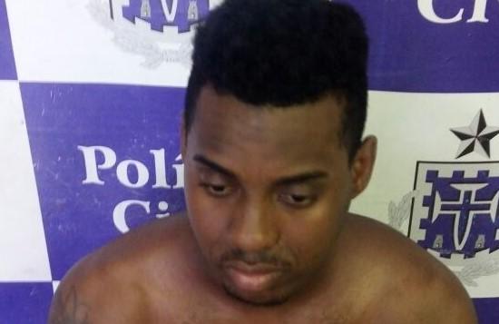 Vinicius dos Santos Silva foi detido na região do Comércio. (Foto: Guarda Civil)