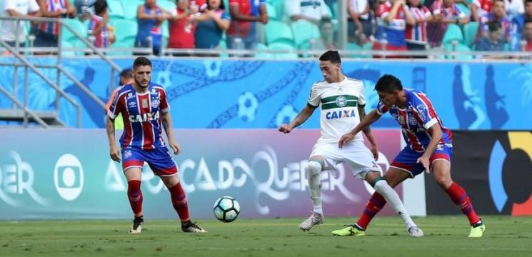 Desta vez o Bahia não conseguiu vencer e perdeu a chance de se afastar de vez da zona do rebaixamento. (Foto:  Felipe Oliveira/EC Bahia/Divulgação)