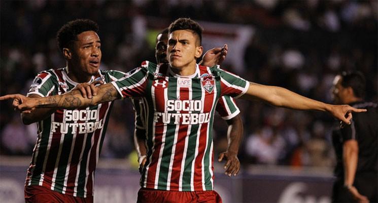 Pedro aos 41 minutos do segundo tempo deu ao Fluminense a classificação para a próxima fase da Copa Sul-Americana. (Foto: Nelson Perez/FFC/Divulgação)