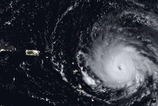 Furacão Irma sobre o Caribe, o mais forte registrado no Oceano Atlântico Divulgação/Nasa