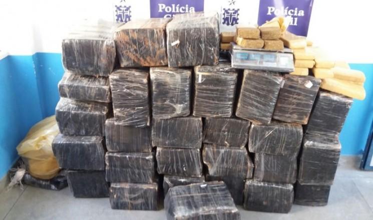 Avaliada em R$ 300 mil,  droga foi trazida do Paraguai (Foto: SSP/Divulgação)