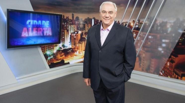 """Marcelo Rezende no """"Cidade Alerta"""": apresentador será sepultado às 15h30 no Cemitério de Congonhas, em São Paulo."""