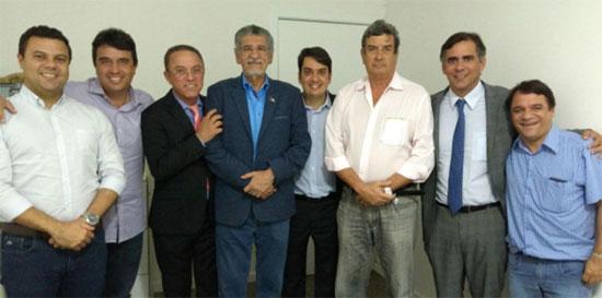 Lideranças do PMDB da Bahia se reuniram   para discutir novas estratégias. (Foto: Divulgação)