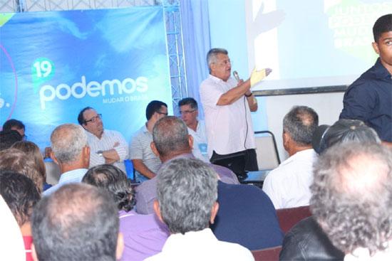 O encontro em Jacobina foi coordenado pelo deputado federal Bacelar, presidente estadual da sigla.