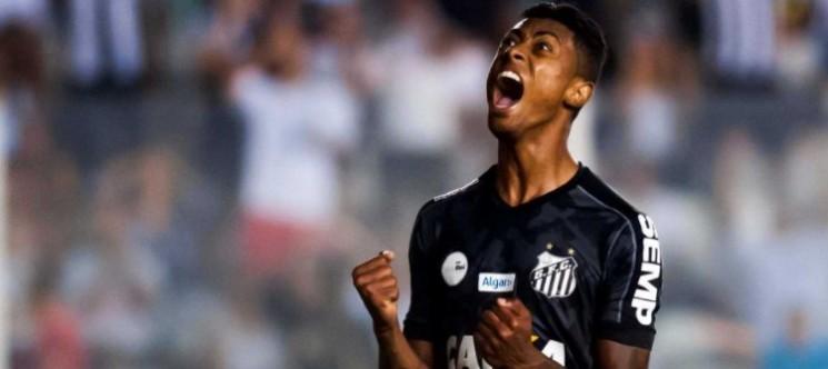 Com gol de Bruno Henrique, o Alvinegro Praiano chegou aos 44 pontos na segunda colocação do Brasileirão. (Foto: Santos FC/Divulgação)
