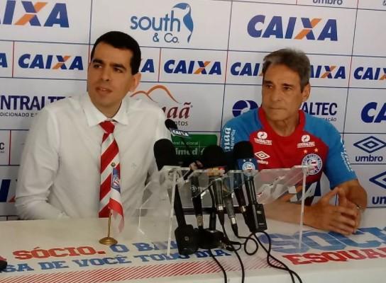 Carpegiani assinou contrato  até o final desta temorada e tem uma dura missão: livrar o Bahia  do rebaixamento.