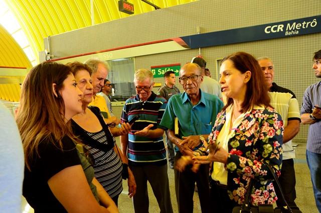 A promotora de Justiça Mônica Barroso ouviu várias reclamações dos usuários referente à acessibilidade deficiente das estações.