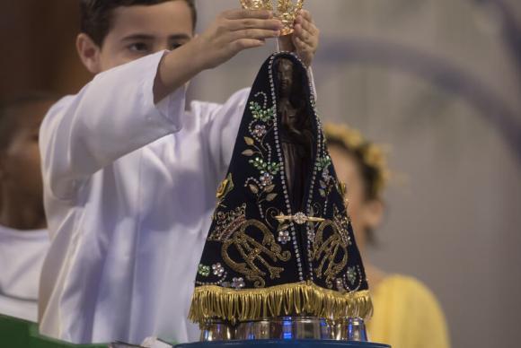 Celebração pelos 300 anos da aparição de Nossa Senhora Aparecida (Foto: Thiago Leon/Santuário de Nossa Senhora Aparecida/Divulgação)