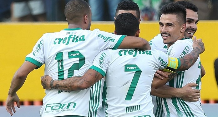 O resultado encerra a seqüência de dois jogos sem vitória e leva o Palmeiras  aos 47 pontos. (Foto: Cesar Grecco/Ag. Palmeiras/Divulgação)