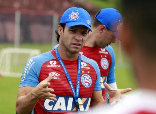 Preto Casagrande  foi efetivado como técnico em julho, mas a torcida vinha pressionando muito a direção do Bahia pedindo a demissão do treinado.  (Foto: Felipe Oliveira / EC Bahia / Divulgação)