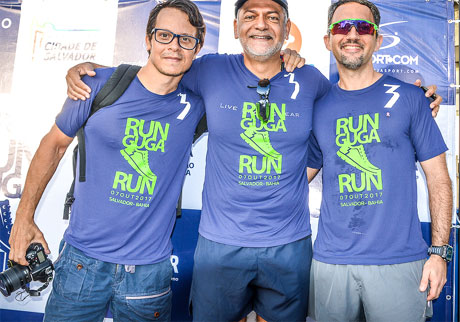 Cleber Castro, Augusto Cruz e Isaac Edington participaram do treino. (Foto: Alberto Rezak/Divulgação)