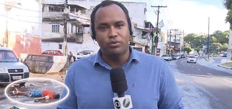 TV Bahia mostra cadáver às 7h da manhã no desespero por Ibope, diz site.