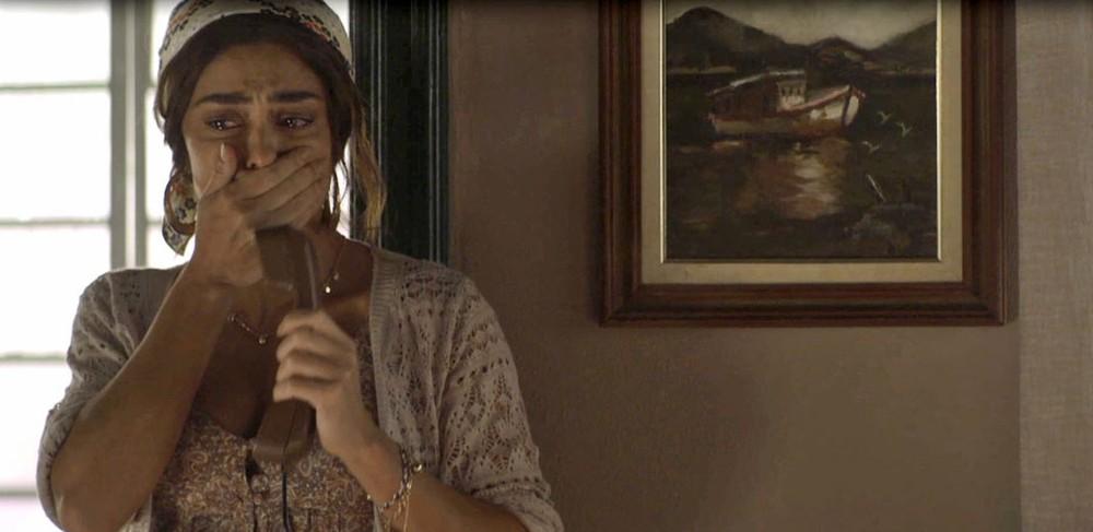 A Dona do Pedaço: Maria da Paz se desespera com a notícia da morte de Amadeu